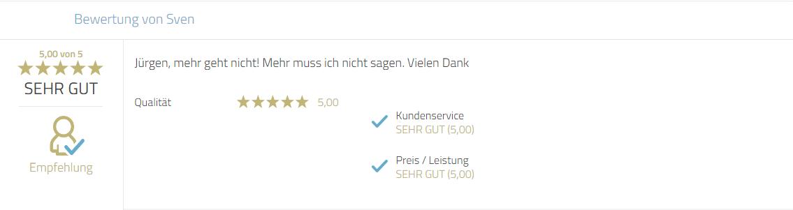 Kundenrezension für Mayr Jürgen und Photobooth-Deluxe.