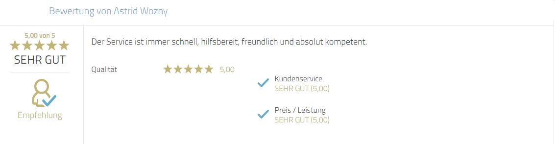 Kundenbewertung zum Service von Photobooth-Deluxe. Gelobt wird besonders die Hilfsbereitschaft, Freundlichkeit und Kompetenz von Mayr Jürgen.